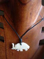 Ciondolo In Osso Con Caucciù Regolabile Elefante Accessori Surf Spiaggia Mare -  - ebay.it