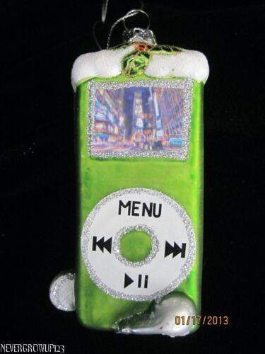Macy's Blown Glassgreen Mp3 Player Ornamentsparklesipod Likenwt