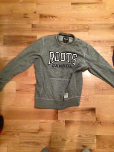 ROOTS PULLOVER HOODIE AND PINK SWEATER