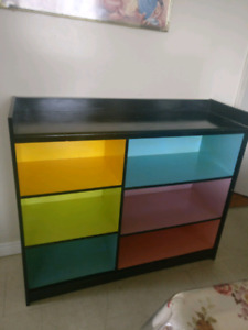 Colourful bookshelf / shelving unit