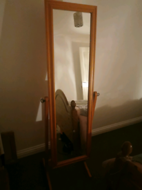 Full length pine mirror
