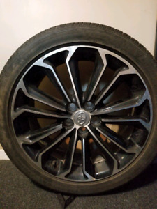 4 all season 17 inch Firestone tires and rims