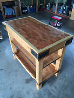 Butchers Block Kitchen Island Full Custom