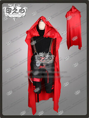 New!RWBY Red Trailer Ruby Unisex Cosplay Costume Cloak Black Dress+Cloak