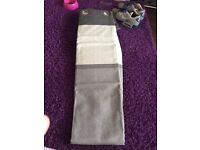 Grey unlined curtains. 90x90in