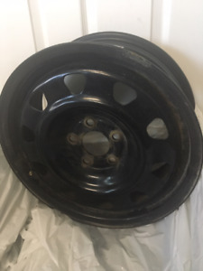 "Winter Steel Rims 16"" 5-110 45 off a SAAB"