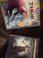2 3D Blurays brand new in plastic Thor 2 and Ifrankenstein