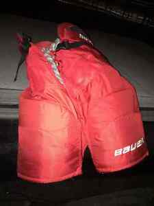 Red Bauer Hockey Pants, Jr XL