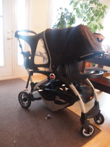 poussette double ergo caboose, joovy, sit and stand