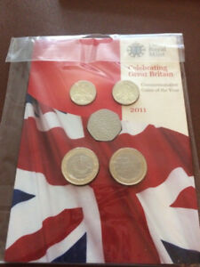 ROYAL MINT 2011 UK SET CELEBRATING GREAT BRITAIN UNCIRCULATED