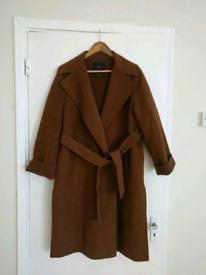 ZARA Brown Belted Long COAT