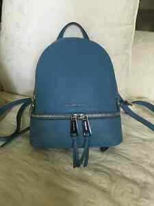Michael Kors Blue Backpack leather