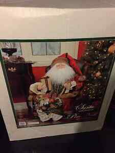 Santa in Leather Chair w/ Presents - HIGH QUALITY, like new