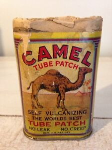 Antique 1940's Camel tube patch repair kit bicycle.