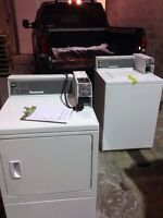 Coin operated washers and dryers