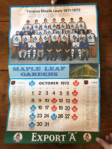 Toronto Maple Leaf Calendar 1972/73