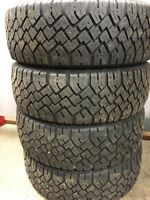 Set of 205/55R16 studded winter tires