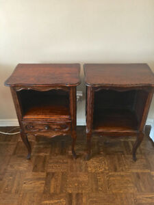 FRENCH ANTIQUE COMMODE TABLES