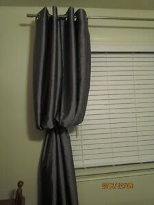 Curtains - Grey Grommet and Blue Tab Top Curtains