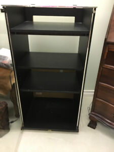 Stereo Stand, Bar Stools & Light Fixture For Sale
