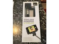 Never been used Selfie Stick, Cristal SS002-1 wireless monopod