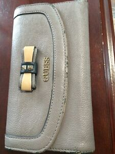 Grey/brown real guess wallet for sale!!