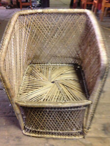 Wicker Chair Vintage $50