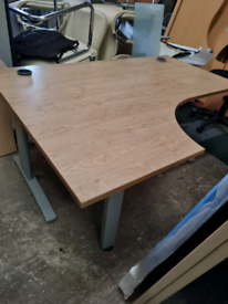 White Oak managers corner office desks