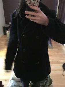 manteau en suede