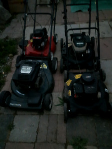 4 lawnmowers 125.00 for all 4