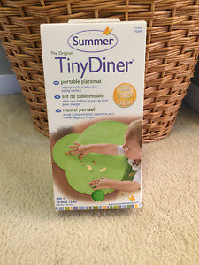 BNIB Summer Infant Tiny Diner Portable Placemat, Green