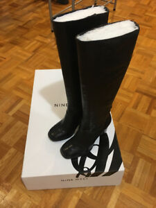 Authentic Tall leather Nine West boots! Brand New