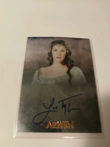 Carte Lord Of The Rings Trilogy Liv Tyler Autograph Arwen