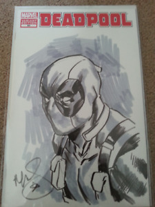 Deadpool 50 Blank Variant Cover with original art on the cover