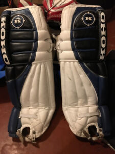 Goalie Gear: Blocker, Trapper, Pads, Stick