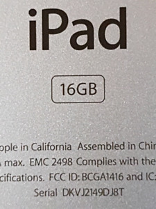 2n generation iPad 16gb