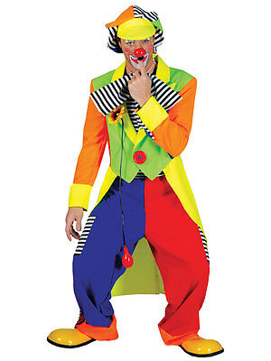 Adult Clown Costume La Circus Mens Fancy Dress Outfit Male Carnival Stag - Circus Costume Male