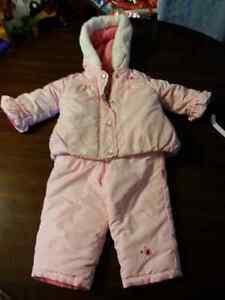Pink snow suit. Size 18 months.