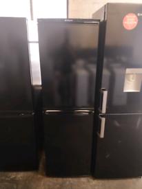 BLACK HOTPOINT 6FT TALL FRIDGE FREEZER FROST FREE