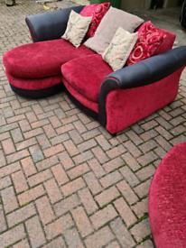 SCS chaise sofa plus cuddle swivel chair