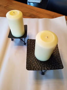6 candlestick holders