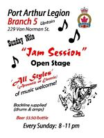 Br. 5 Legion OPEN MUSIC JAM  >  > EVERY SUNDAY < <