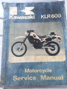 1984 1985 Kawasaki Factory KLR600 Service Manual