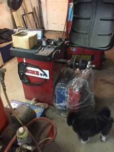 Tire changer, Coats tire balancer, Pressure washer