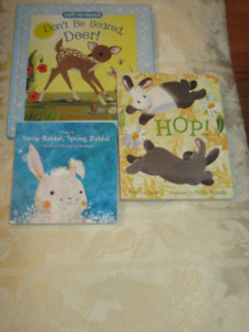 3 Board Books - Rabbits and deer Tales