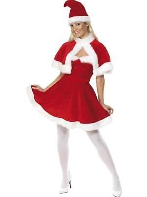 MISS SANTA COSTUME  CAPE, CHRISTMAS FANCY DRESS, LARGE 16-18, WOMENS (Miss Santa Cape)