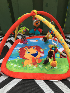 Bright Starts Baby Activity Mat, with lots of Lamaze Hangy Toys