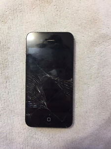IPhone 4s screen is cracked
