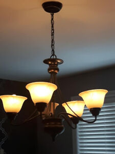 2 SET OF FIVE-LIGHT HANGING PENDANT LIGHT