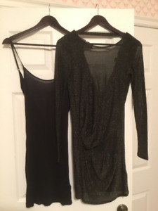 Ted Baker two part black dress. Size 0UK size 2 U.S.